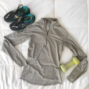 Nike DRI-FIT Gray 1/4 Zip Athletic Pull Over
